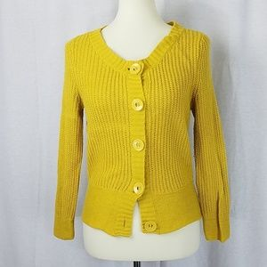LOFT | Yellow/Gold Knit Cardigan